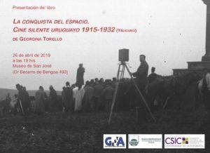 """libro """"La conquista del espacio. Cine silente uruguayo(1915-1932)."""