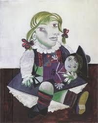 Maya con la muñeca