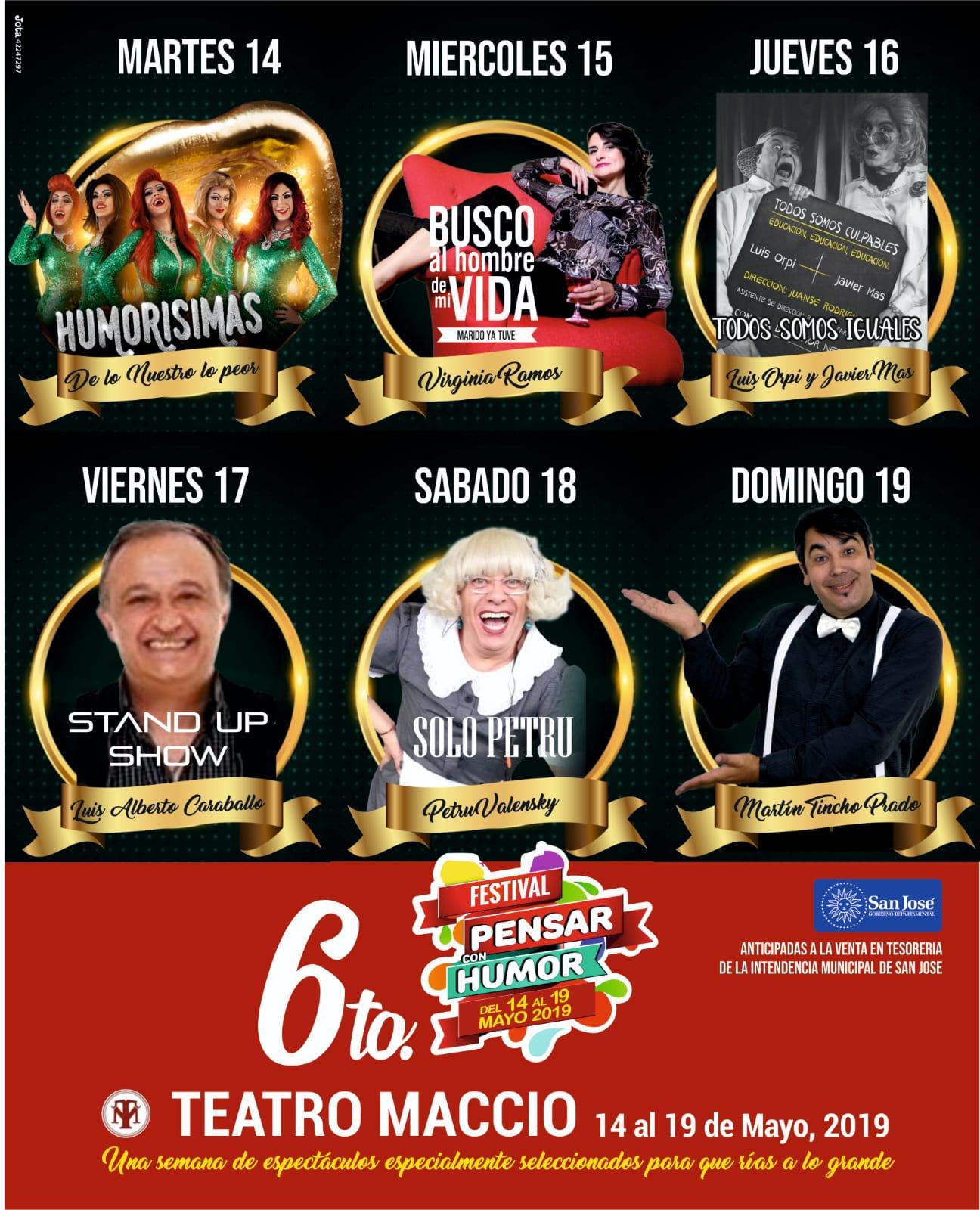 Pensar con Humor - Teatro Maccio de San José
