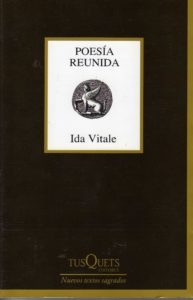 """Portada del libro """"Poesía reunida"""", de Ida Vitale"""