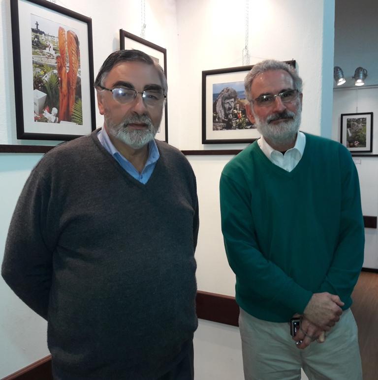 Pablo Rivero y Eduardo Montemuiño en muestra fotográfica en Casa de la Cultura de Sa José