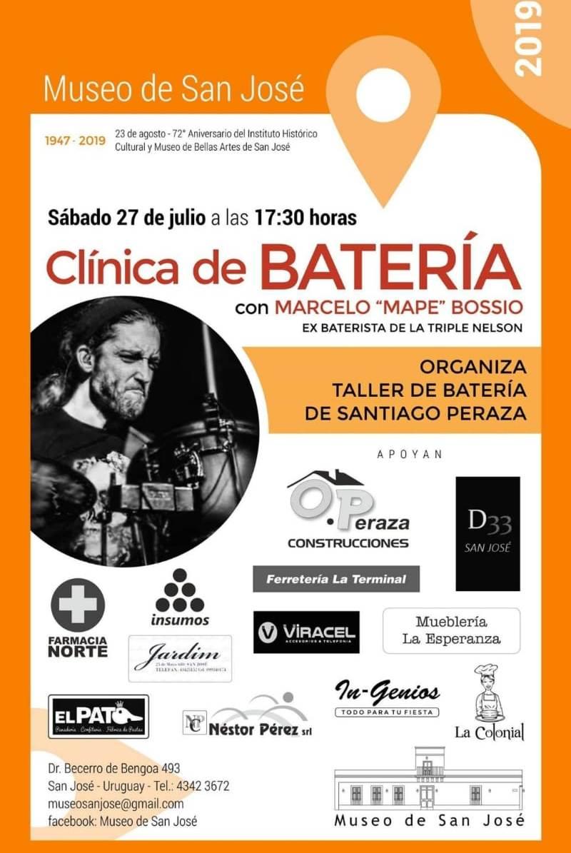 27 de julio 2019 Clínica de Batería en el Museo