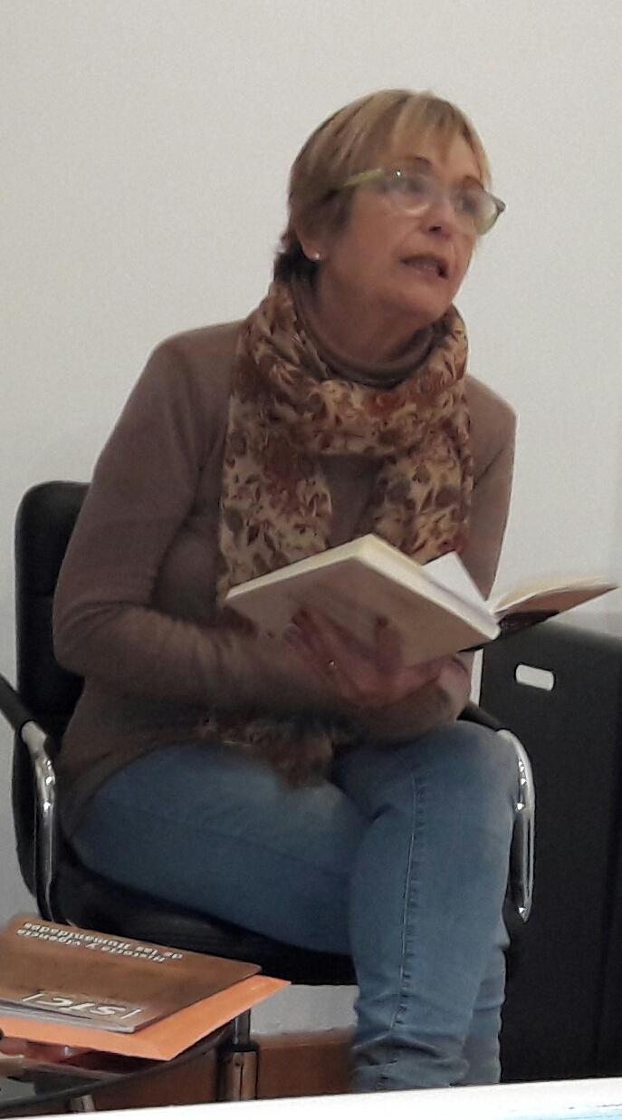 Profesora Cristina Callorda en el ICE (foto de archivo)