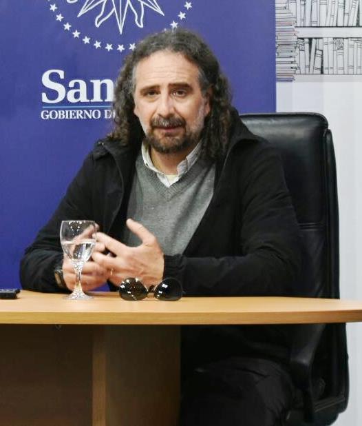 Pedro Peña en el Espacio Cultural (foto Nicolás Dziugys- archivo)-