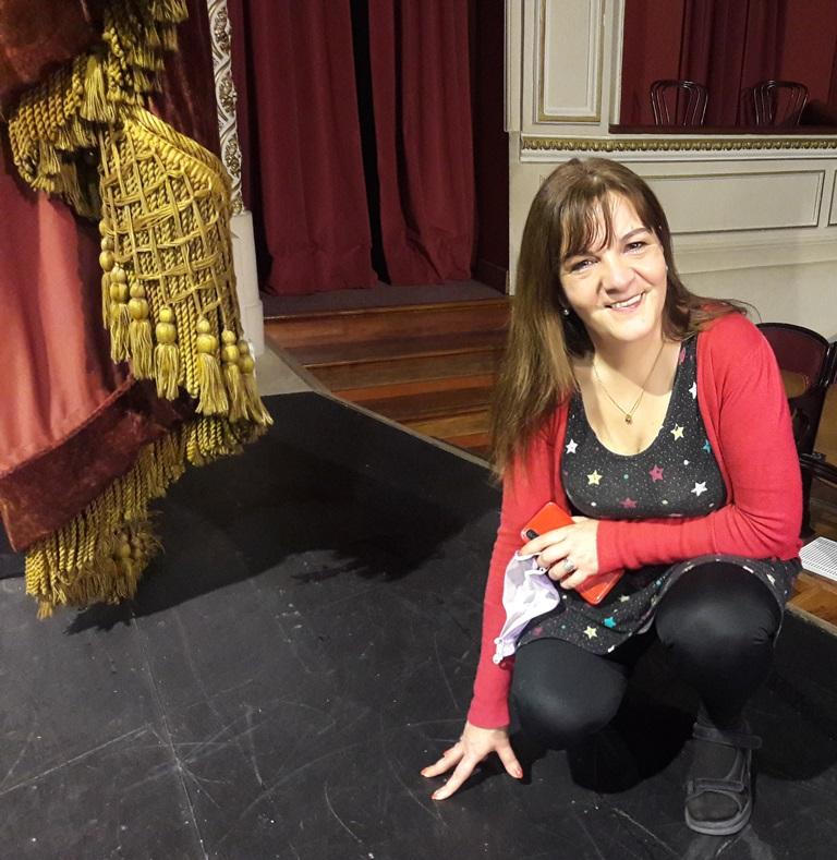 Directora teatral Lila García en el Macció -