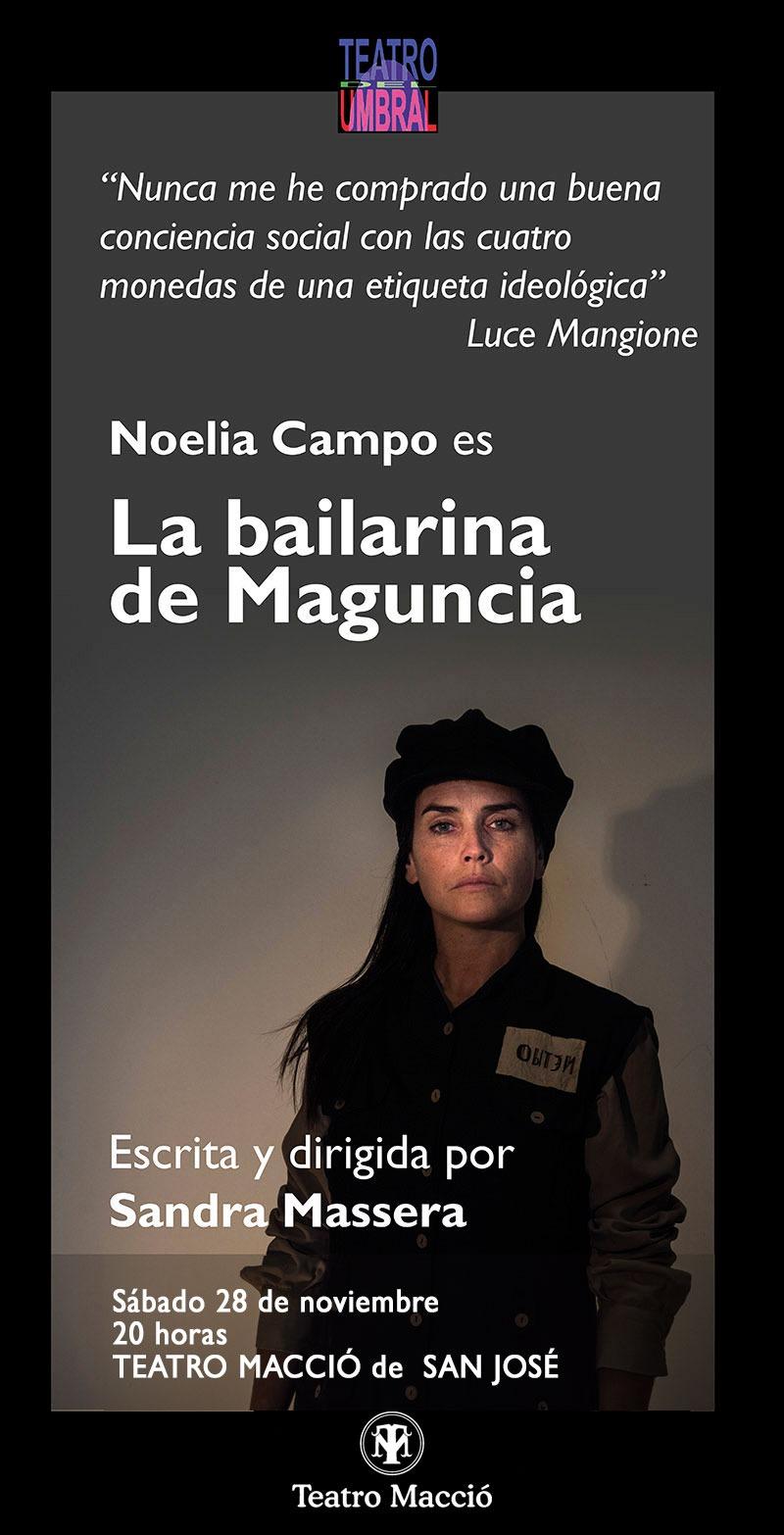 Sábado 28 de noviembre, La bailarina de Maguncia, en el Macció