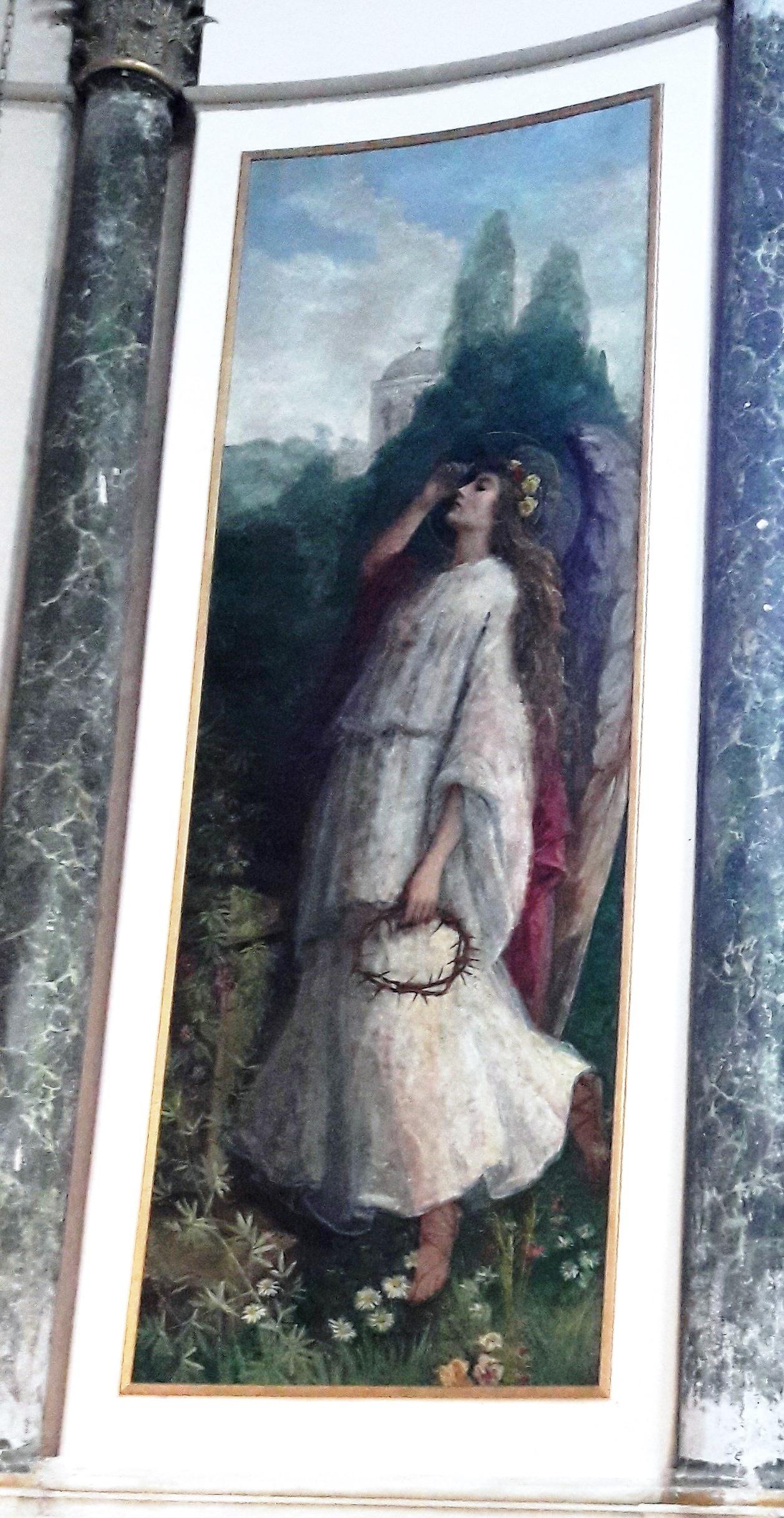 Lienzo restaurado y colocado en la Capilla del Santísimo Sacramento