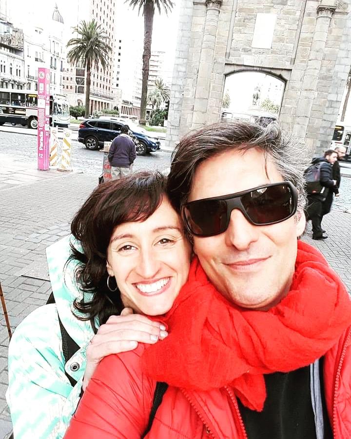 Rosina Gil y Rafael Martinez en Montevideo (foto gentileza del enttevistado).