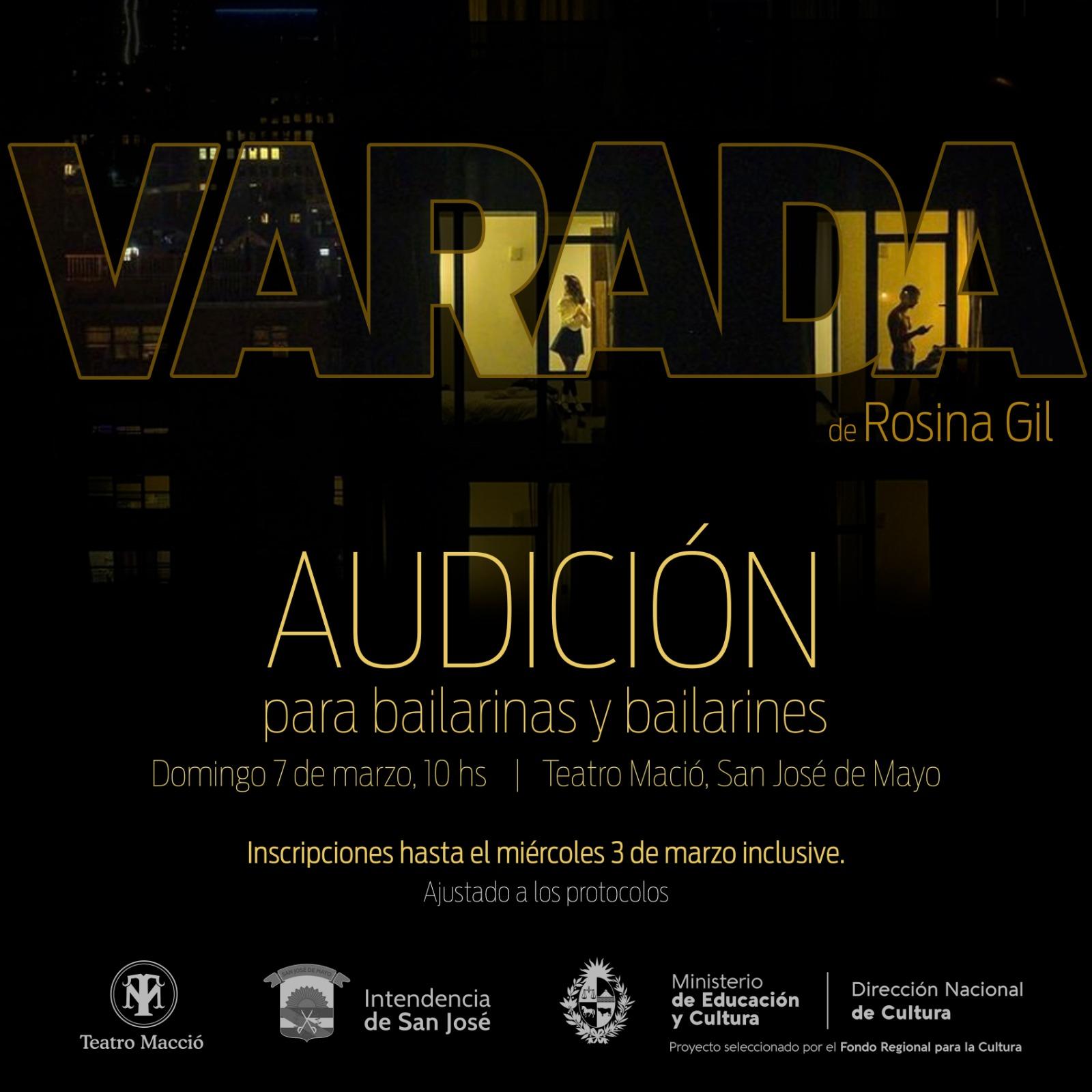 Audición de bailarinas y bailarines para VARADA con Rosina Gil